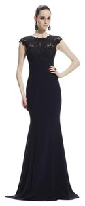 Theia Cap Sleeve Lace Gown Evening Dress