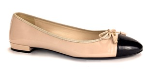 b51e560d7ca Added to Shopping Bag. Prada Made In Italy Ballet Logo Business Casual Nude  Flats. Prada Nude Cap Toe ...