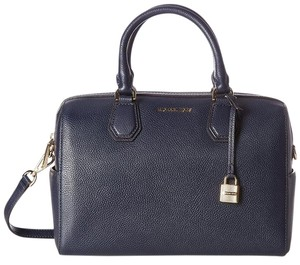 Michael Kors Mercer Studio Duffle Navy Satchel in Admiral