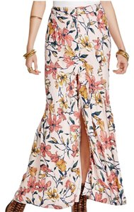 Free People Down Maxi Skirt Floral