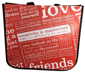 Lululemon Reusable Large Shopping Tote in Black Red