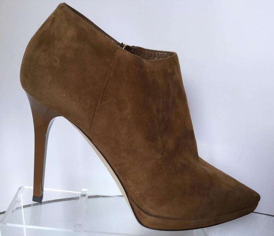 8dc8f8c2150b Jimmy Choo Tan Lindsey 100 Suede Point-toe Ankle 39) Boots Booties ...