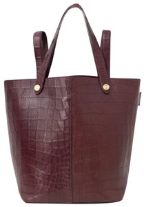 08353cd20273 Mulberry 2016 In Oxblood Crocodile-embossed Red Leather Tote - Tradesy
