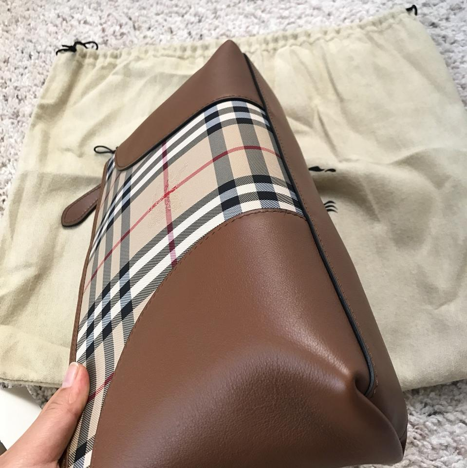 5a3f04613e76 Burberry   Small Chichester   Convertible Clutch Horseferry Check Polyamide    Leather Trim Cross Body Bag - Tradesy