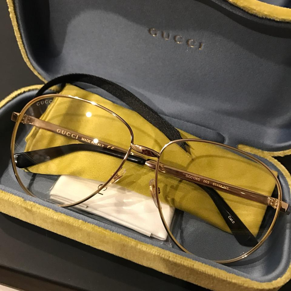 aefcf0b8cb1a Gucci Aviator metal glasses with Web 434036 Kris Wu Image 10. 1234567891011