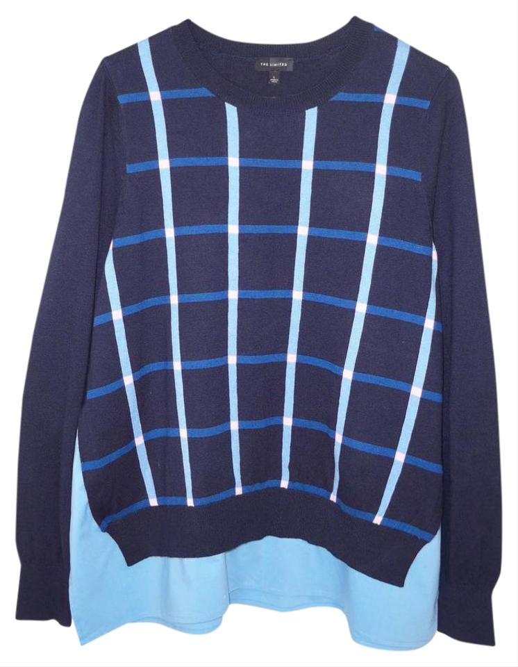 The limited mock 2 piece sweater pullover size 14 l for Plaid shirt under sweater
