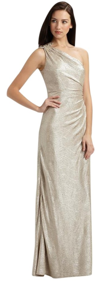 David Meister Gold Your Royal Highness Gown Long Formal Dress Size 8 ...