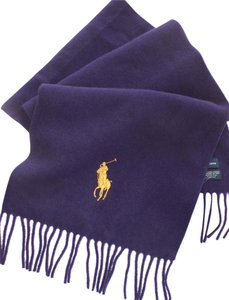 Ralph Lauren authentic RALPH LAUREN wrap SCARF lambs wool NEW lavender Pony large