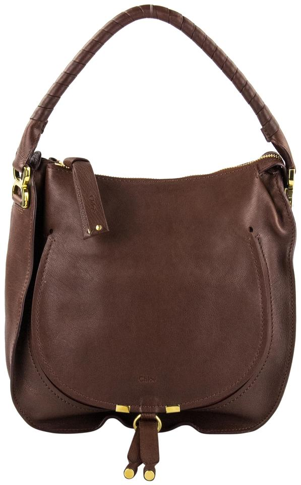 993002addd Chloé Marcie Brown Leather Shoulder Bag - Tradesy