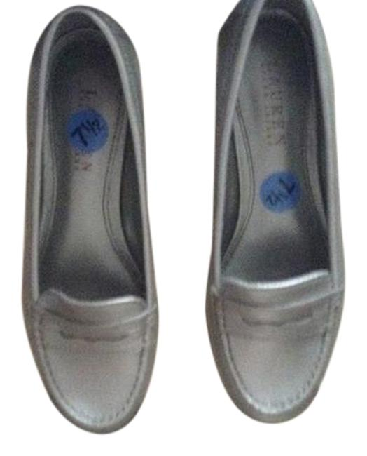 Item - Silver Galia; Great with Jeans Or Any Skirt Can Be Worn To The Office Flats Size US 7.5 Regular (M, B)