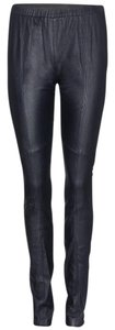 Tory Burch Leather Classic Sexy Navy blue Leggings