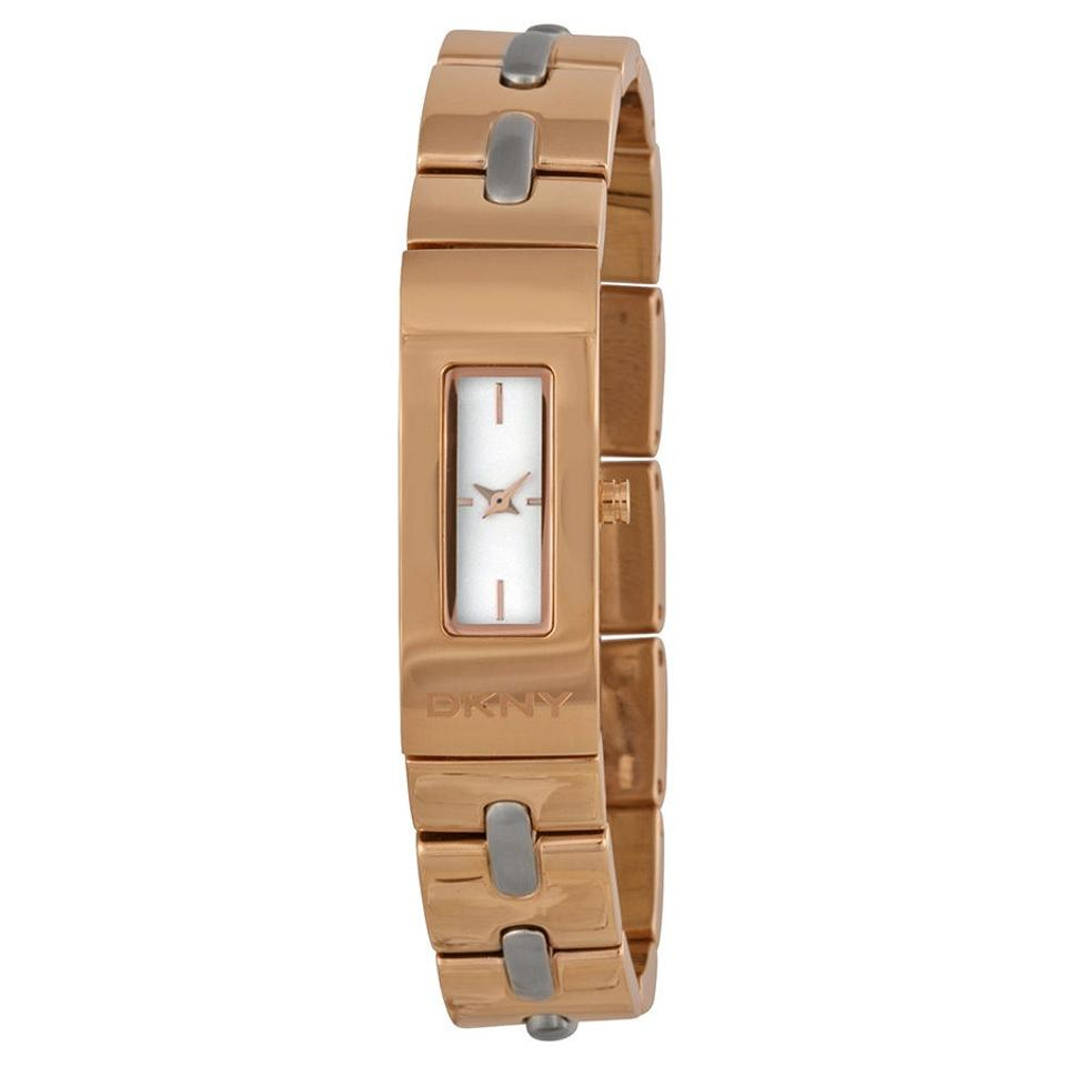0881334b1d13b DKNY Rose Gold Tone New Ny2141 Astoria Stitch Two-tone Stainless Steel  Women Watch
