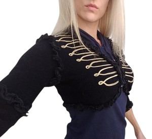 Foley and Corinna Top Black/gold