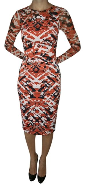 Item - Red/Multi Mid-length Formal Dress Size 2 (XS)