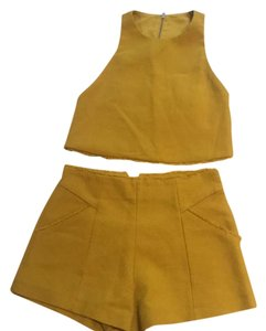 Zara yellow Halter Top