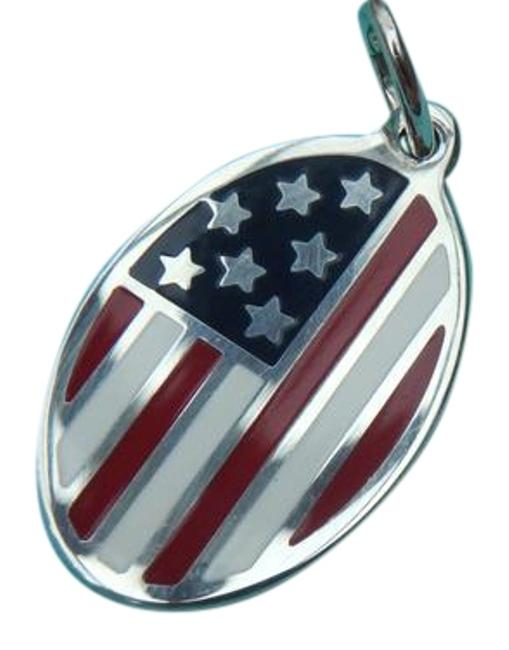 Item - Red White and Blue Enameled American Flag Charm