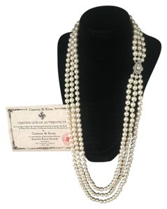 Camrose & Kross Jackie O Triple Strand Pearl Necklace