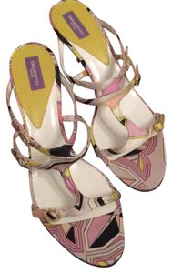 Emilio Pucci lilac and yellow Pumps
