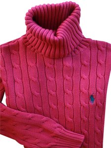 Ralph Lauren Turtleneck Cable Knit Pony Sweater