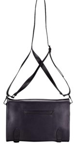 theyskens' theory Leather Classic Jewel-toned Everyday eggplant Messenger Bag