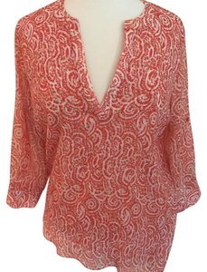 Outback Red Top Coral Paisley