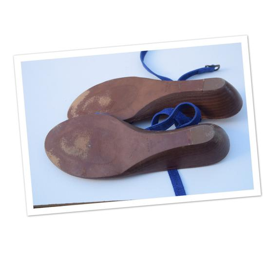 Madewell royal blue Sandals Image 1