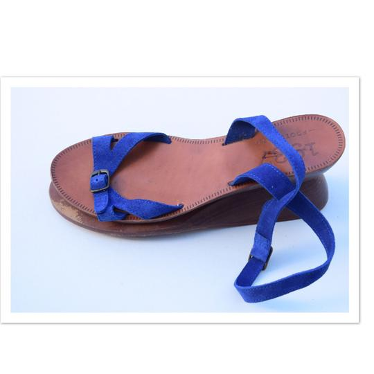 Madewell royal blue Sandals Image 4