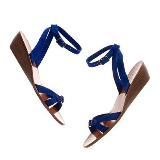 Madewell royal blue Sandals Image 7