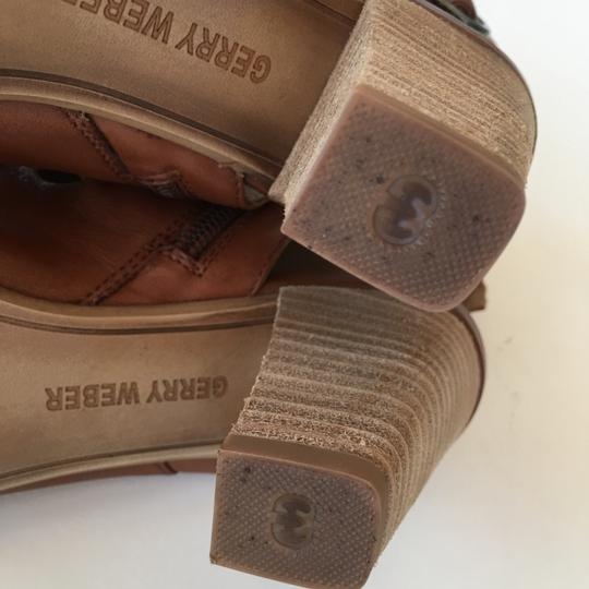 Gerry Weber Leather Cream Brown Boots Image 4