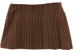 Fray Mini Skirt brown