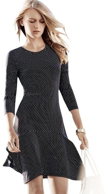 Item - Navy Blue White Polka Dot **see Commission Note**adriatic Drop Waist Short Casual Dress Size 6 (S)