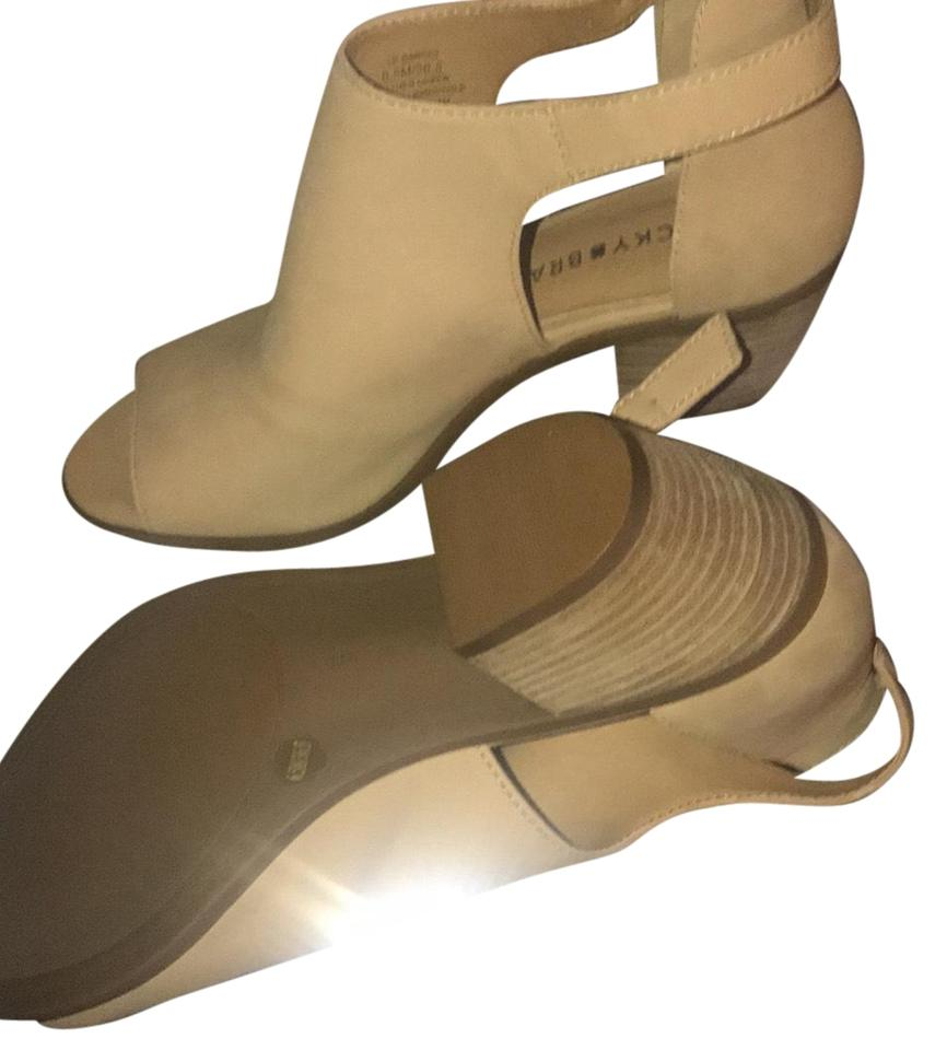 ladies Lucky The Brand Tan Suede Mules/Slides The Lucky highest quality material 680f2d
