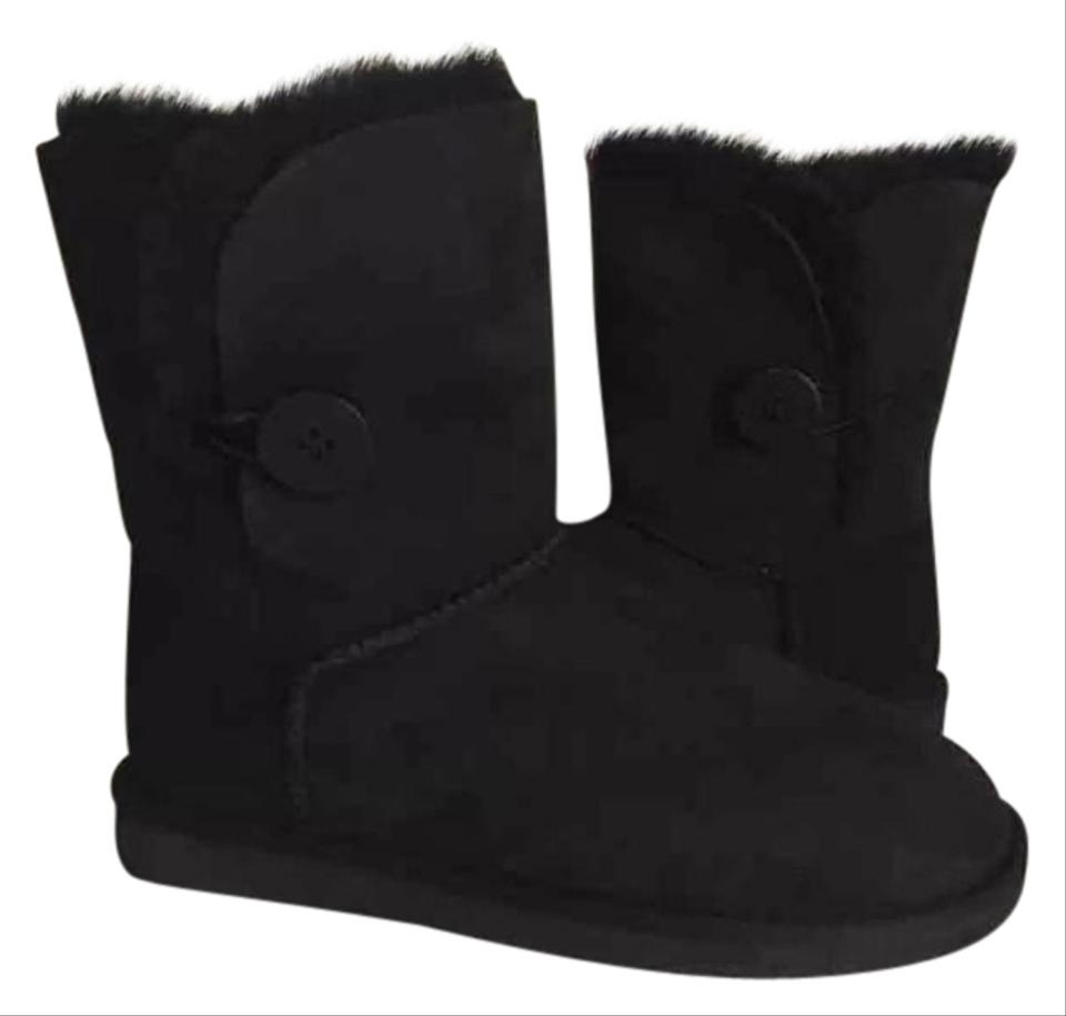 ugg australia ugg bailey button 6 black boots on sale 37 off boots booties on sale. Black Bedroom Furniture Sets. Home Design Ideas