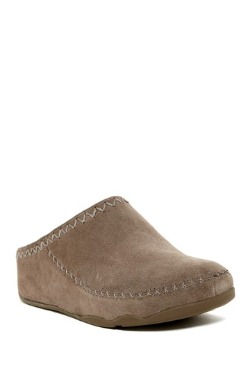 FitFlop Suede Slip On brown Mules Image 2