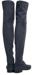 3.1 Phillip Lim Knee High Suede Over Knee Blue Navy Boots