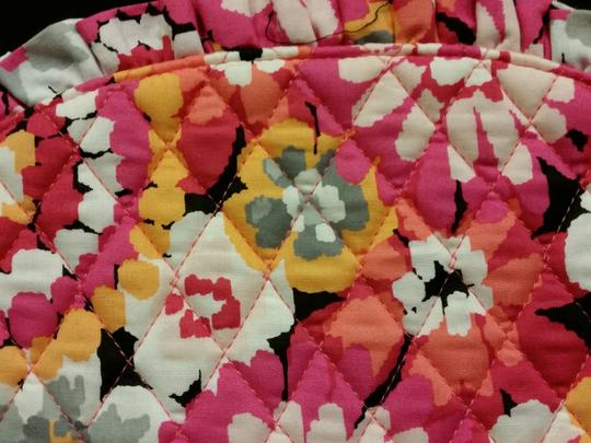 Vera Bradley Large Pouch Cosmetic Pink with Multicolored Floral Print Clutch