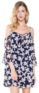 Sugarlips short dress Blue Alight On Lilies Floral Cold Shoulder on Tradesy