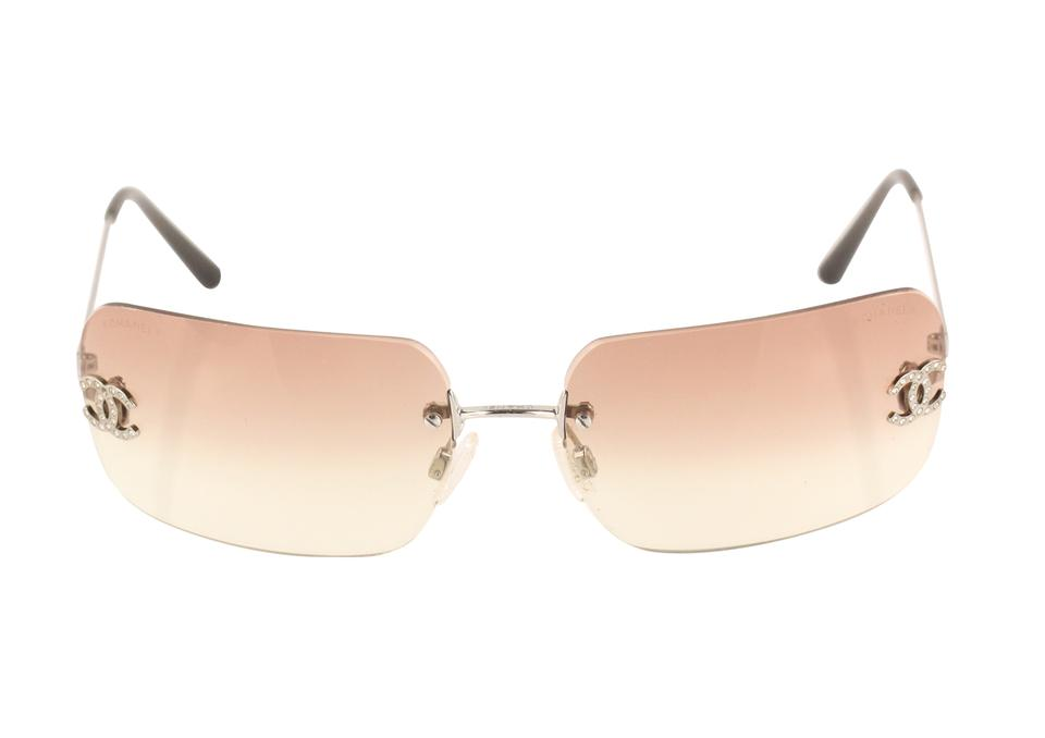 471c86a414 Chanel Pink Rimless Gradient Sunglasses - Tradesy