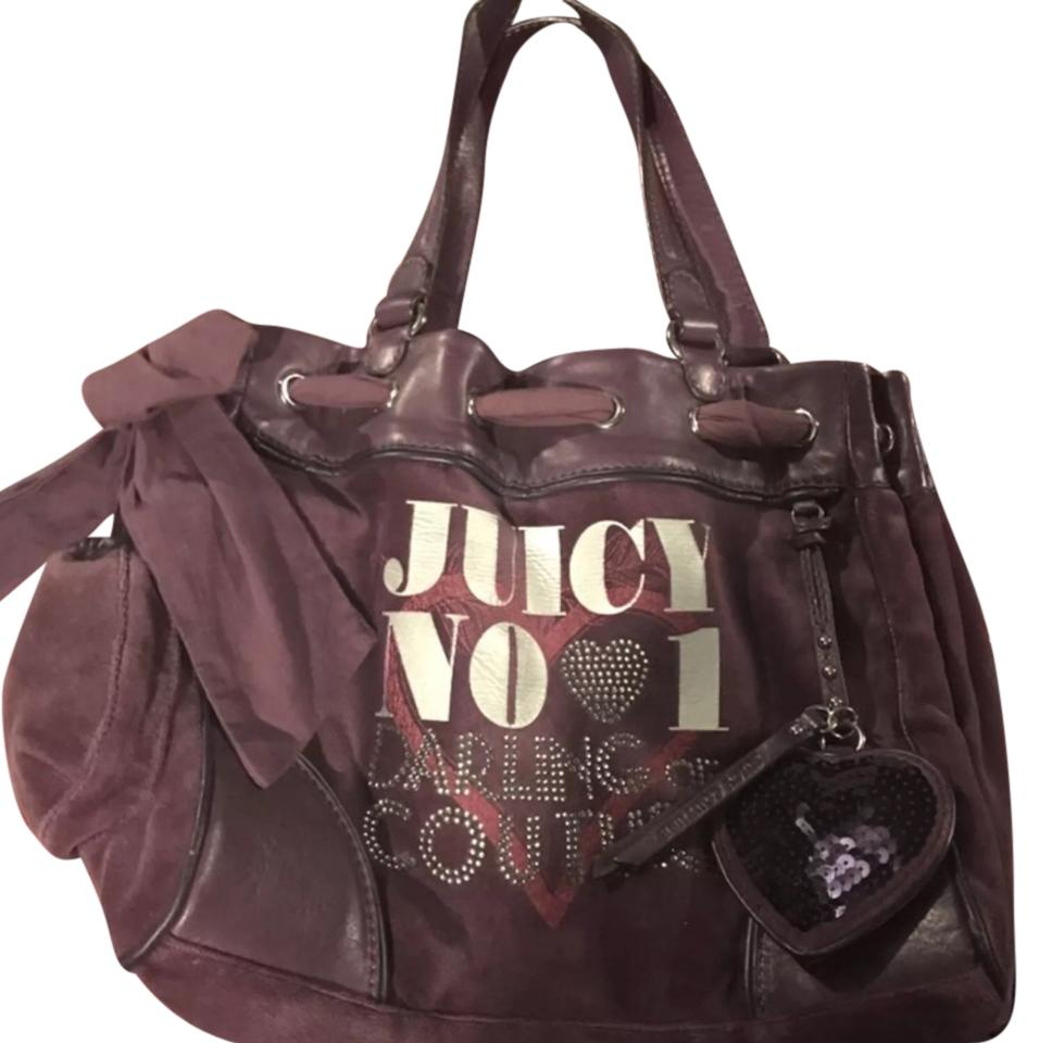 juicy couture purple tote bag on tradesy. Black Bedroom Furniture Sets. Home Design Ideas
