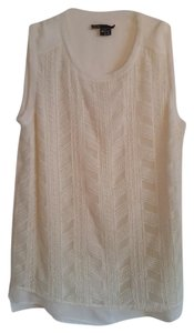 Vince Silk Knit Sleeveless Chevron Top