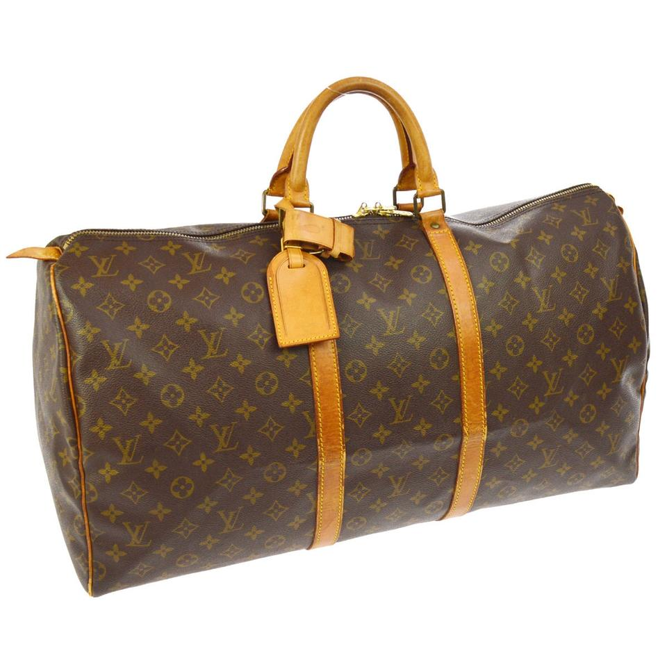 louis vuitton keepall 55 weekend travel travel bag on tradesy. Black Bedroom Furniture Sets. Home Design Ideas