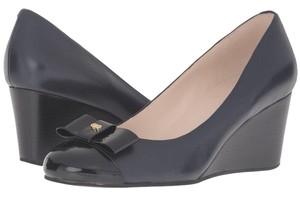 Cole Haan Black and Blue Wedges