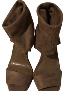 BCBGeneration Taupe Suede Pumps
