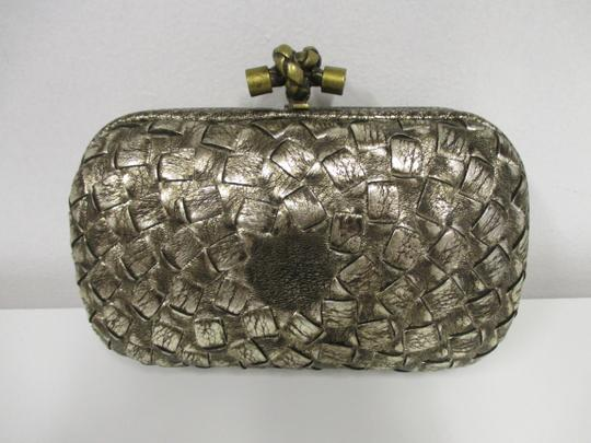Bottega Veneta Woven Antique gold Clutch Image 1