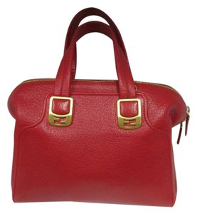 Fendi Chameleon Leather New Without Tags Satchel in Red