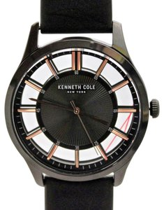 7fbc5d9e9e874 Kenneth Cole NEW Kenneth Cole KCC0135002 Black Dial Glass Back Band Men  Women Watch