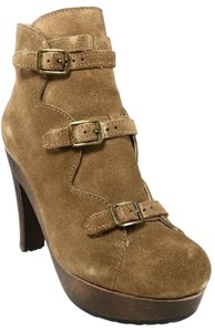 See by Chloé Suede Platform Strappy Cappuccino Boots