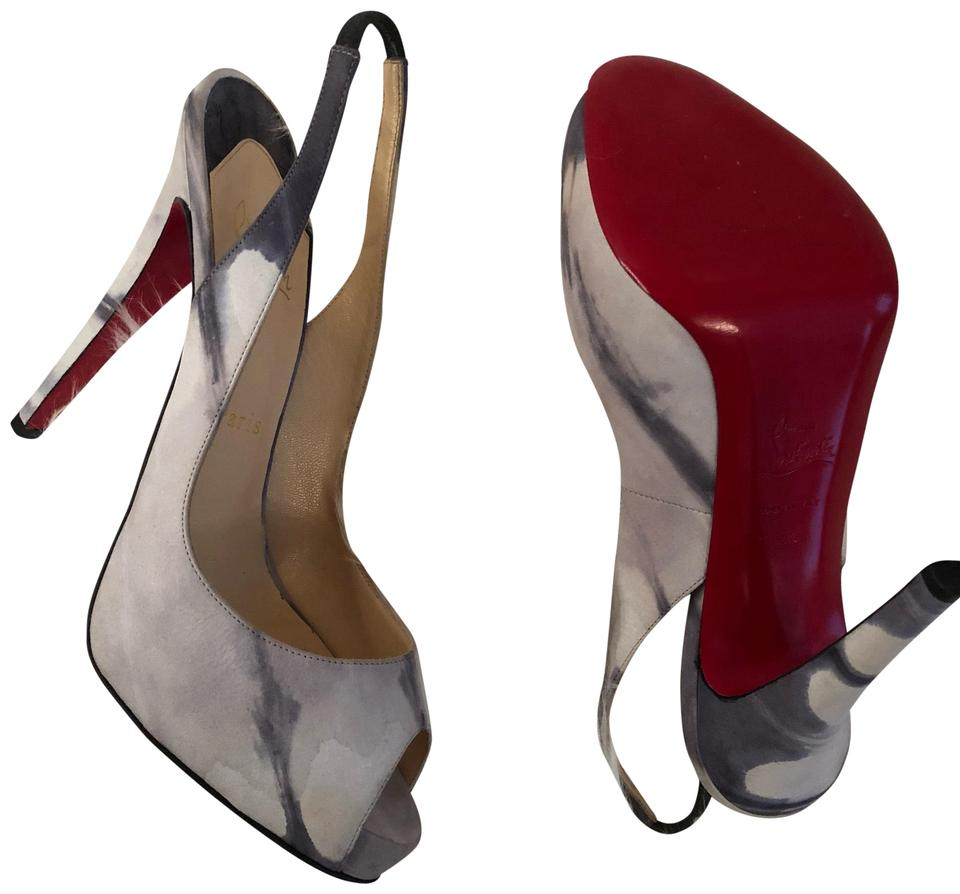 4db271024b1 Christian Louboutin Gray and Black Open Pumps Size EU 39 (Approx. US 9)  Regular (M, B) 32% off retail