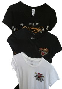 Ed Hardy T Shirt black and white