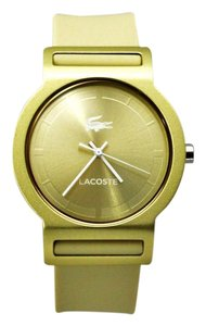 Lacoste New Lacoste 2020082 Gold Tone Dial Beige Silicon Band Women Watch
